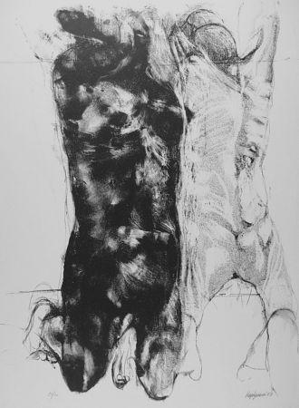 Litografía Vespignani - Due figure