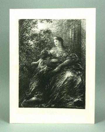Litografía Fantin-Latour - Duo des Troyens (6º planche)