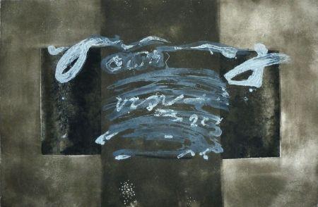 Grabado Tàpies - Dyptique avec croix