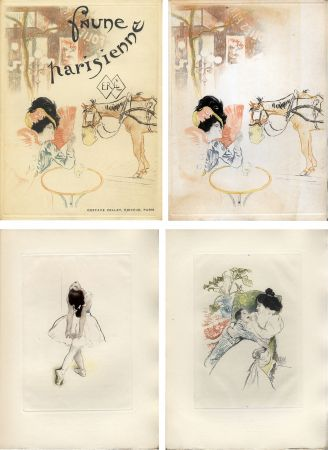 Libro Ilustrado Legrand - E. Ramiro : FAUNE PARISIENNE. La suite des gravures signées par Louis Legrand (1901)