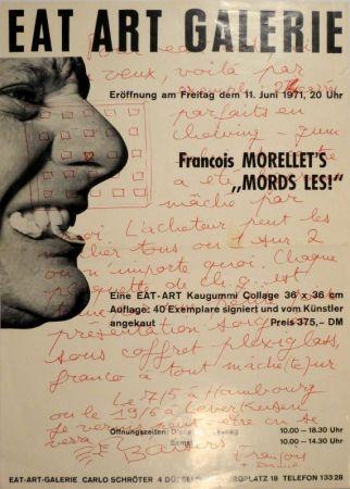 """Offset Morellet - Eat Art Gallery Carlo Schröter. Francois Morellet's """"Mords Les!"""""""