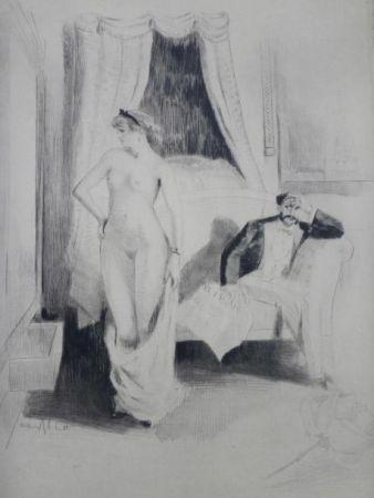Grabado Ablett - Eaux-fortes pour Nana, par William Ablett
