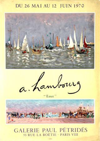 Litografía Hambourg - Eaux  Galerie Petrides Mai Juin 1970