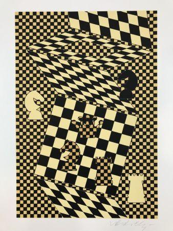 Litografía Vasarely - ECHIQUIER