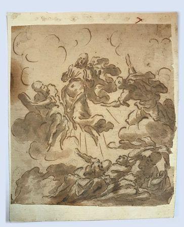 Sin Técnico Anonyme - Ecole italienne, XVIIIe, cercle de Giovanni  PIAZZETTA (1682-1754) .  L'Ascension