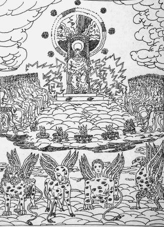 Litografía De Chirico - ...Ed ecco un trono stava nel cielo...