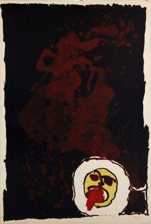 Litografía Alechinsky - Edgar (le tireur de langue)