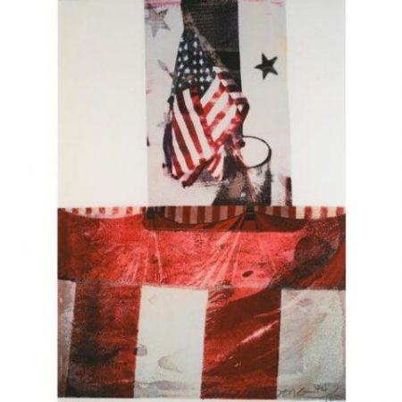 Litografía Rauschenberg - Edward Kennedy Campaign