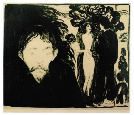 Litografía Munch - Eifersucht (Jealousy)