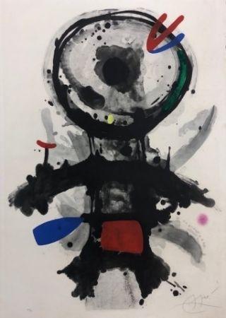 Aguafuerte Miró - El angel acribillado