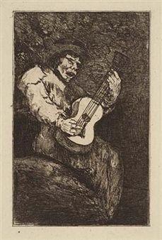 Aguafuerte Y Aguatinta Goya - El cantor ciego / The Blind Singer