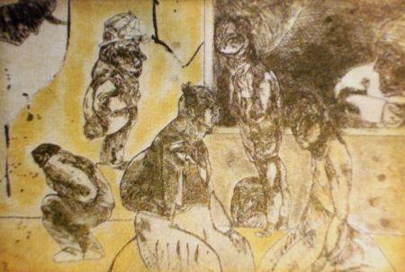 Aguafuerte Y Aguatinta Cuevas - El cuarto amarillo
