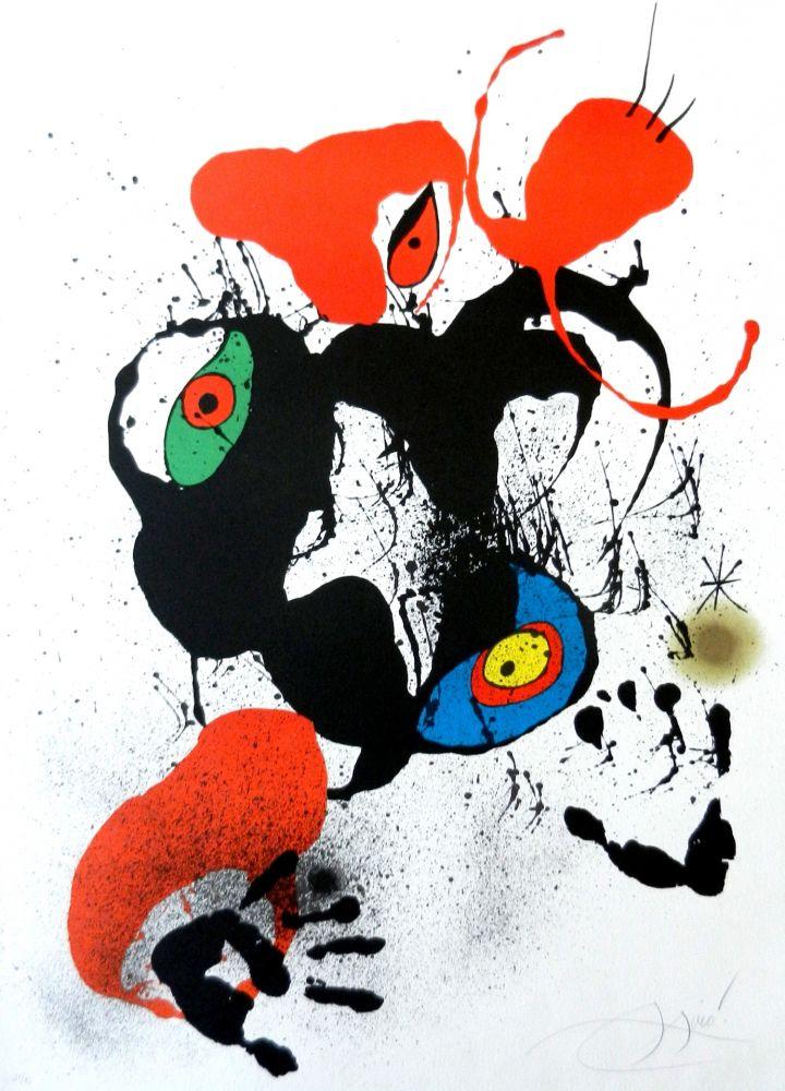 Litografía Miró - El fogainer