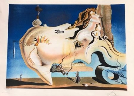 Grabado Dali - El gran masturbador