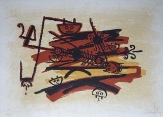 Litografía Lam - El ultimo viaje del buque fantasma
