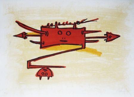 Litografía Lam - El ultimo viaje del buque fantasma - 6