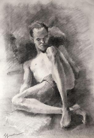Sin Técnico Bonabel - Eliane Bonabel / Louis-Ferdinand Céline - DESSIN ORIGINAL / ORIGINAL DRAWING - Nu Masculin / Male Nude - 1939