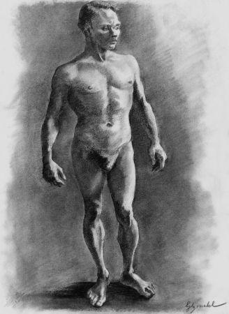 Litografía Bonabel - ELIANE BONABEL / Louis-Ferdinand Céline - Litographie Originale / Original Lithograph - Nu Masculin / Male Nude - 1938