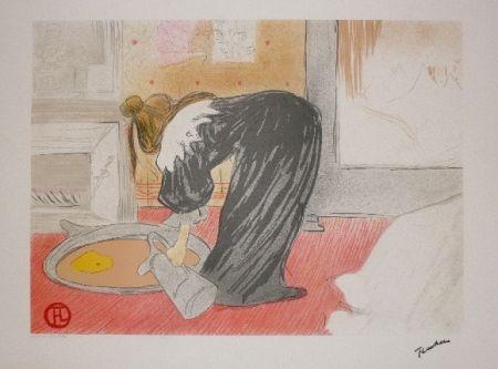 Litografía Toulouse-Lautrec - Elles, femme au tub