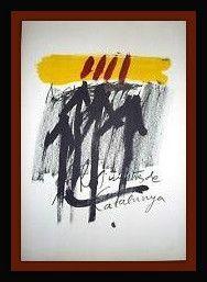 Litografía Tapies - Els Mestres De Catalunya