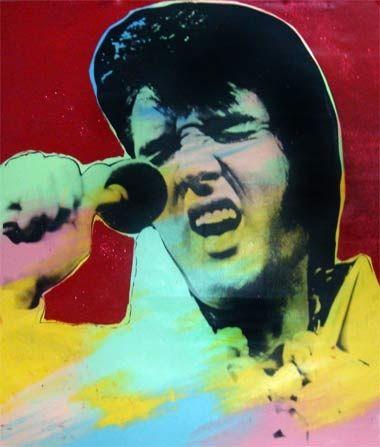 Serigrafía Kaufman - Elvis II
