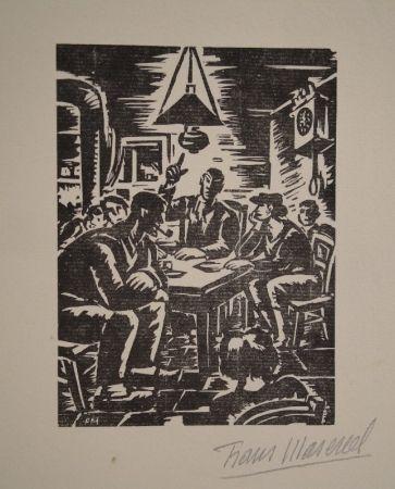 Grabado En Madera Masereel - Emile Zola, Germinal