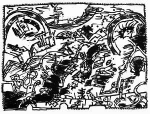 Litografía Alechinsky - En fait (Etat en noir)