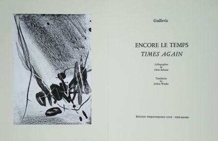 Libro Ilustrado Baltazar - Encore le temps