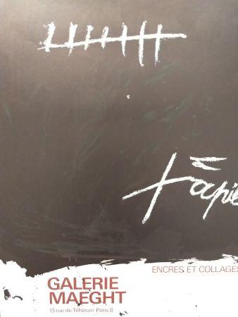 Cartel Tàpies - Encres et collages