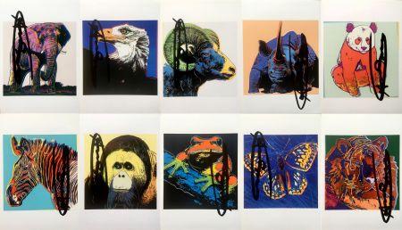 Litografía Warhol - Endangered Species Announcement Cards (Set of 10) (Signed)