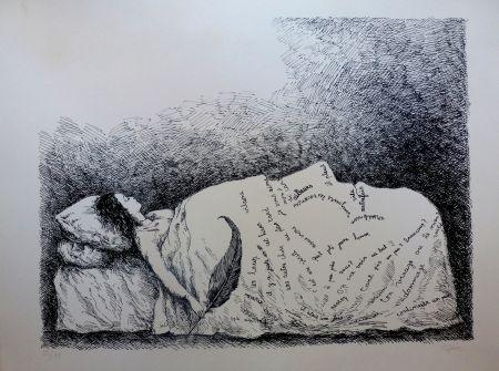 Litografía Topor - Endormie