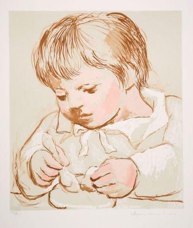 Litografía Picasso - Enfant Deieunant
