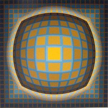 Serigrafía Vasarely - Enigma 3