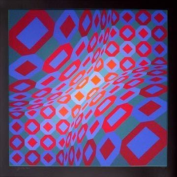 Serigrafía Vasarely - Enigma 8