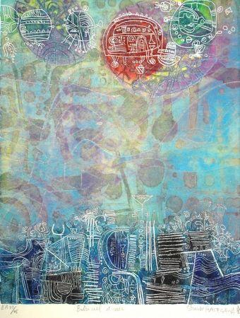 Aguafuerte Y Aguatinta Hasegawa - Entre ciel et mer