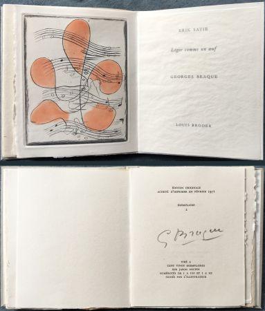 Libro Ilustrado Braque - Erik satie : LÉGER COMME UN ŒUF. Une gravure originale en couleurs (1957)