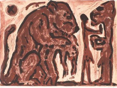 Litografía Penck - Erinnerung unbekannt