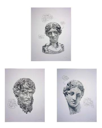 Serigrafía Arsham - Eroded Classical Prints (Portfolio of 3)