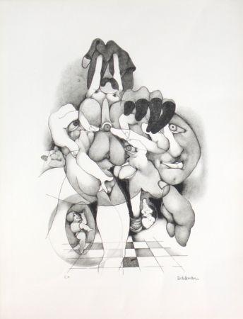 Litografía Daboval - Erotica