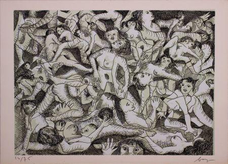 Aguafuerte Baj - Erotica VIII