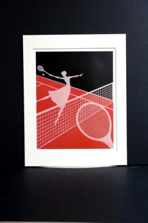Serigrafía Erte - Erte - A Limited edition screen print after the Love and Tennis suite