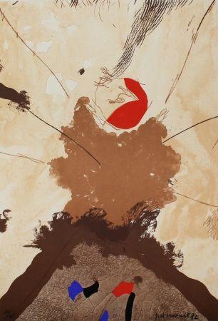 Litografía Guinovart - Esclat ocell