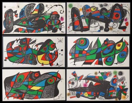 Litografía Miró - Escultor - 7 lithos