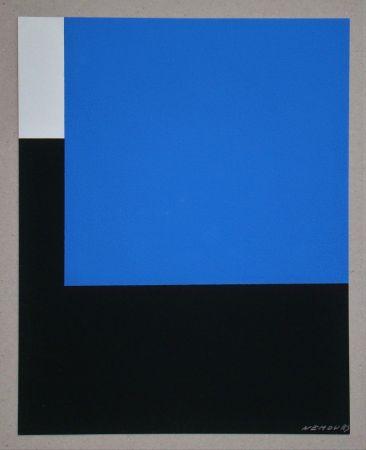 Serigrafía Nemours - Espace bleue