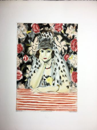 Aguafuerte Y Aguatinta Matisse - Espagnole À La Mantille (1925)
