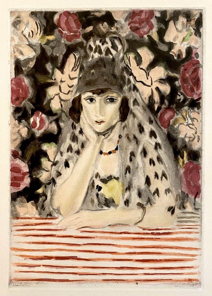 Aguatinta Matisse - Espagnole a la Mantille