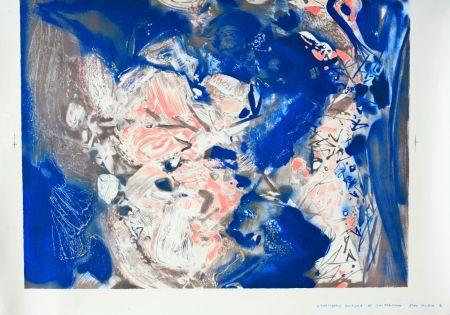 Litografía Chu Teh Chun  - Essai couleur