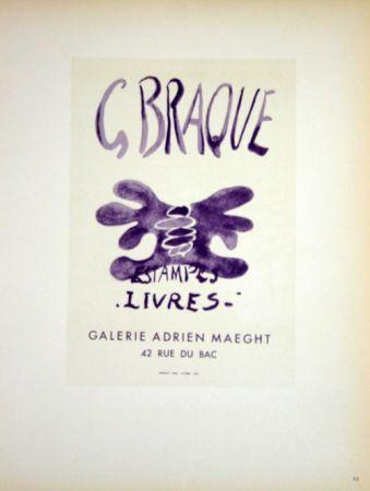 Litografía Braque - Estampes  Livres