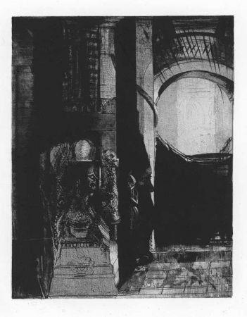 Litografía Redon - Et partout ce sont des colonnes de basalte...