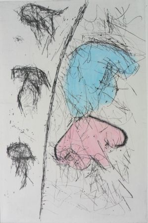 Grabado Balle - Etching with watercolour